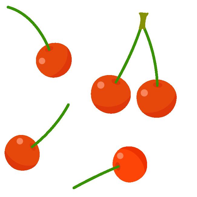 さくらんぼのパターン素材のイラスト