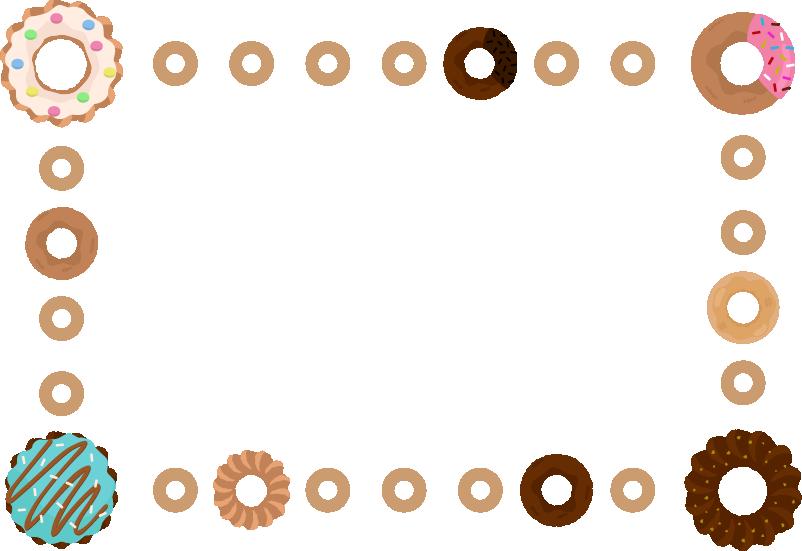 ドーナツのフレームのイラスト
