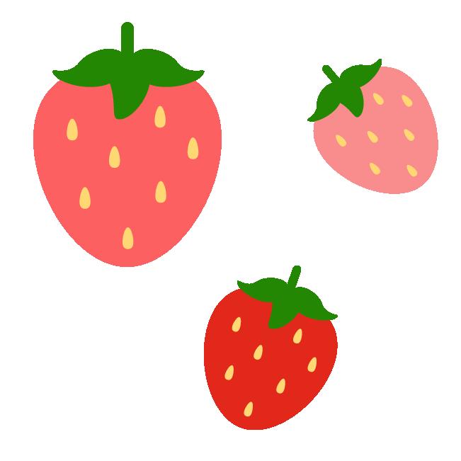 いちごのパターン素材のイラスト