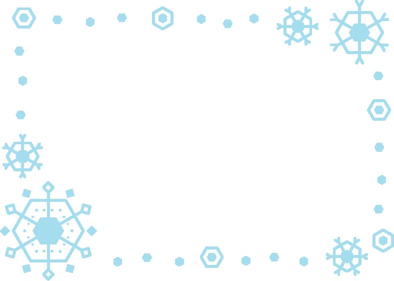 雪の結晶のフレームのイラスト1