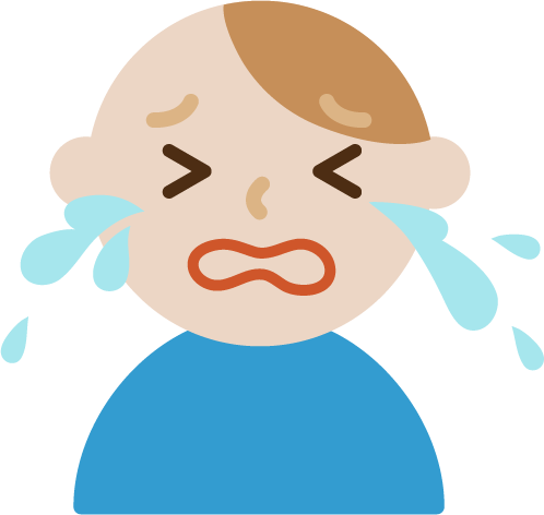 号泣する若い男性のイラスト