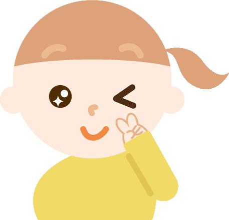 ウインクする女の子のイラスト