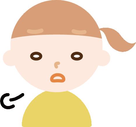 ため息をつく女の子のイラスト