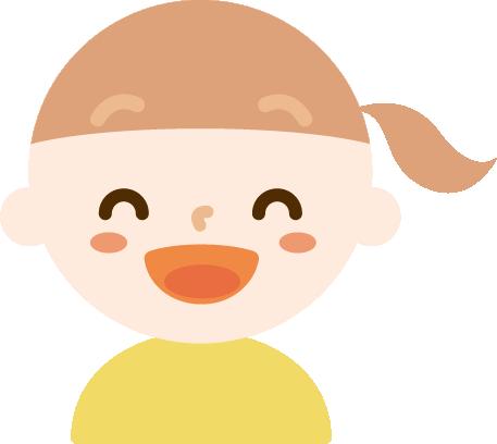 満面の笑みの女の子のイラスト