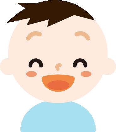 満面の笑みの男の子のイラスト
