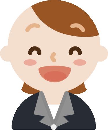 いい笑顔の社会人の女性のイラスト