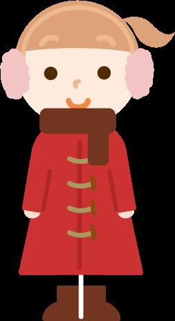 冬服の女の子のイラスト2