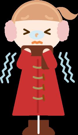 冬服の女の子のイラスト3