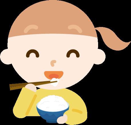 ご飯を食べる女の子のイラスト1