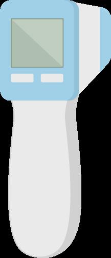 非接触型体温計のイラスト1