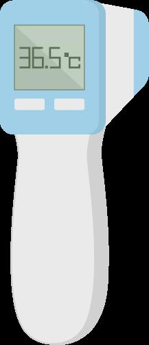 非接触型体温計のイラスト2