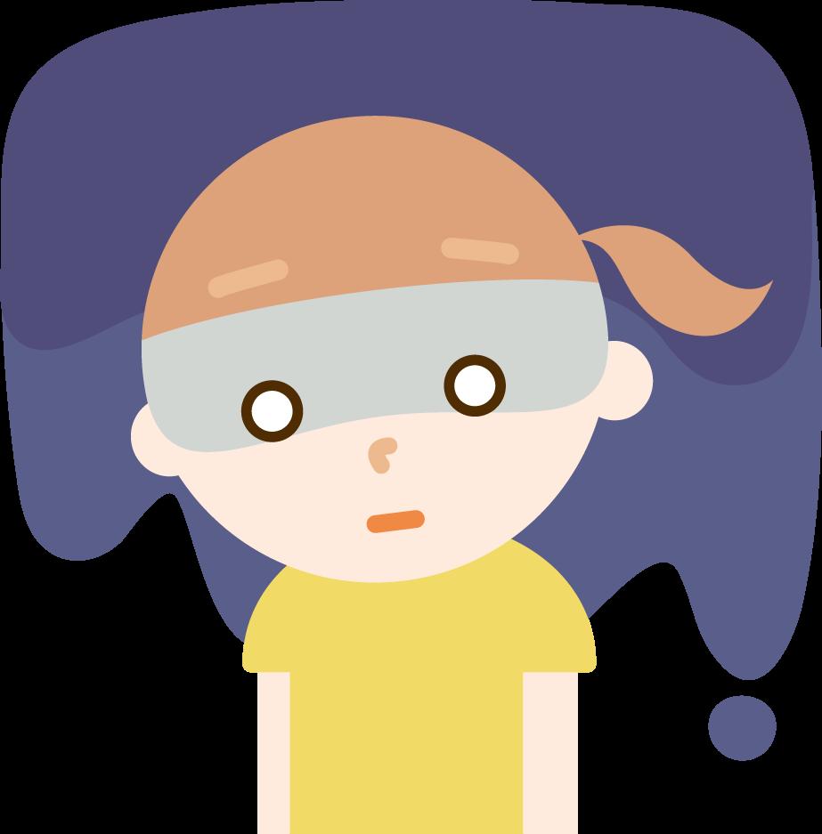 落ち込む女の子のイラスト