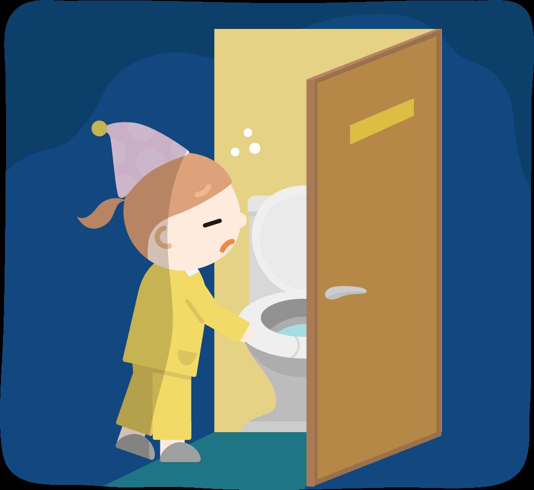 トイレに行く女の子のイラスト2