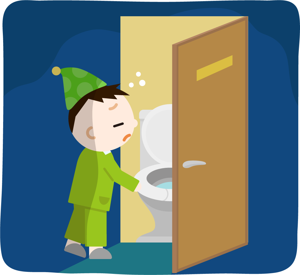 トイレに行く男の子のイラスト2