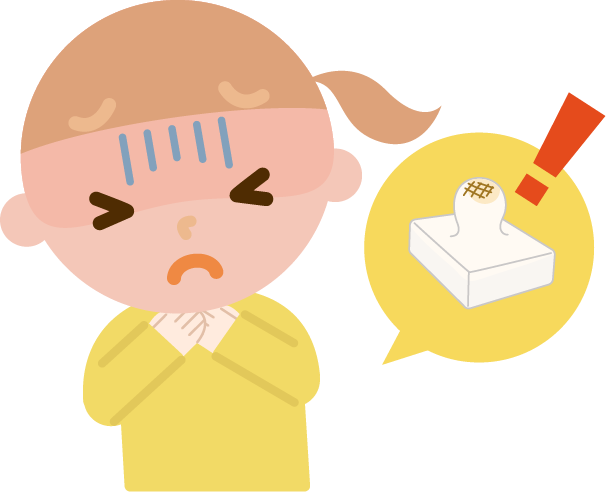 餅が喉に詰まった女の子のイラスト