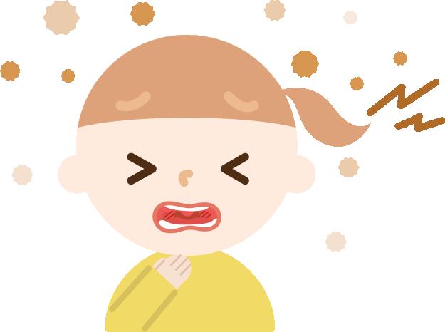 喉を痛めた女の子のイラスト2