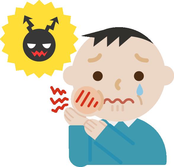 虫歯が痛む中年男性のイラスト2