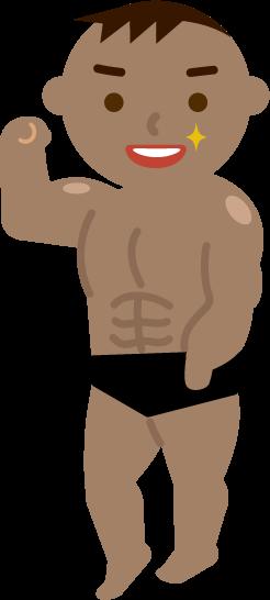 マッチョの若い男性のイラスト1