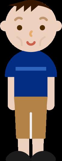 痩せ型の若い男性のイラスト