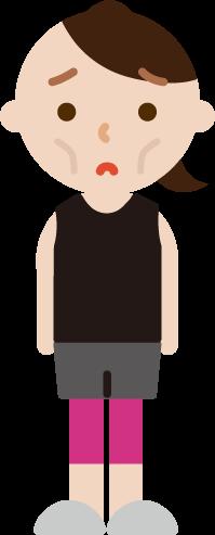 痩せ型の若い女性のイラスト2