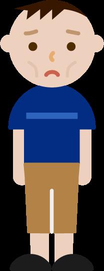 痩せ型の若い男性のイラスト2