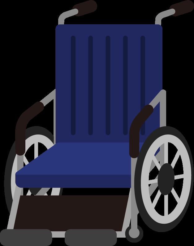 車椅子のイラスト(ブルー)