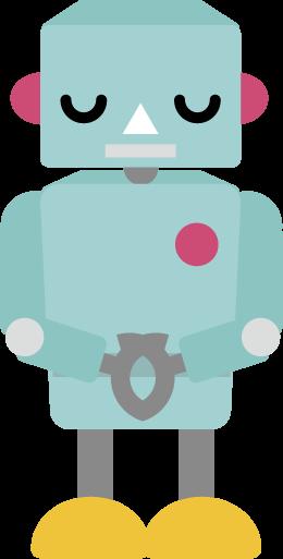 お辞儀をするロボットのイラスト