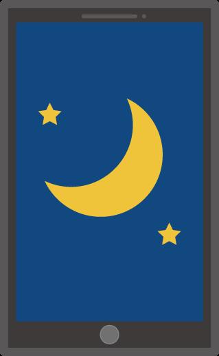 スマホの画面のイラスト(夜)