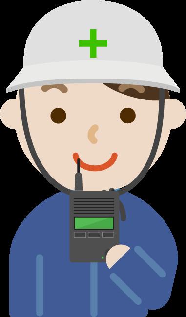 無線機を持つ男性のイラスト5