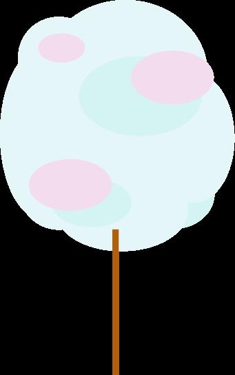綿飴のイラスト