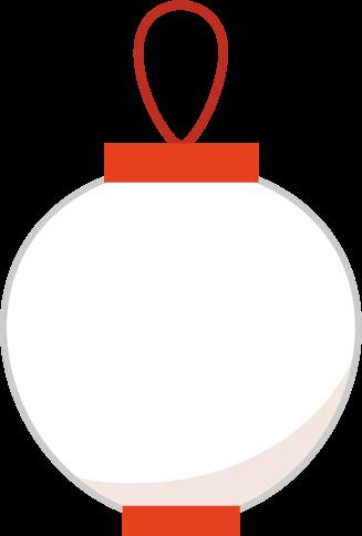 祭りの提灯のイラスト(無地)