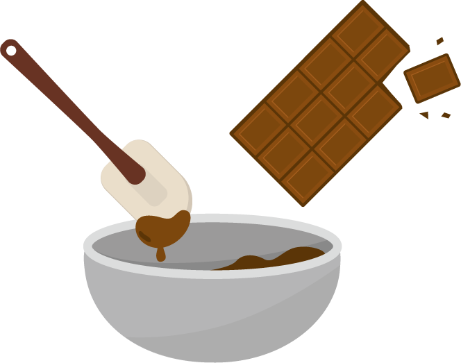 チョコ作りのイラスト2