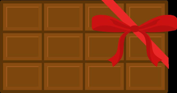 バレンタインチョコのイラスト(リボン)