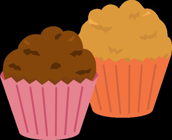 手作りカップケーキのイラスト