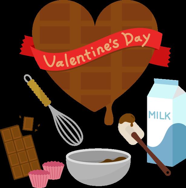 バレンタインのイラスト(チョコ作り2)