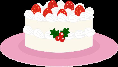 クリスマスケーキのイラスト