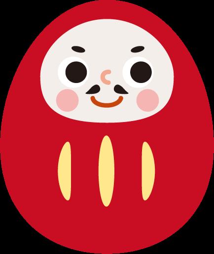ダルマのイラスト(赤)