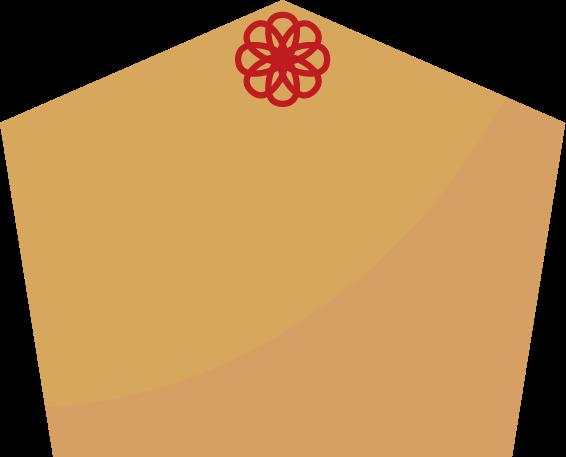 花飾りのついた絵馬のイラスト
