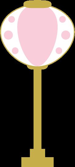 雛飾りのぼんぼりのイラスト