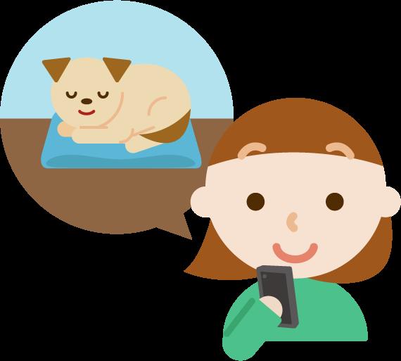 ペット(犬)の見守りのイラスト6