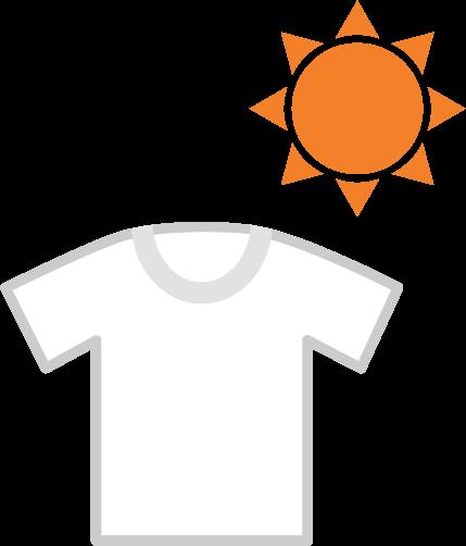 太陽と洗濯物のイラスト