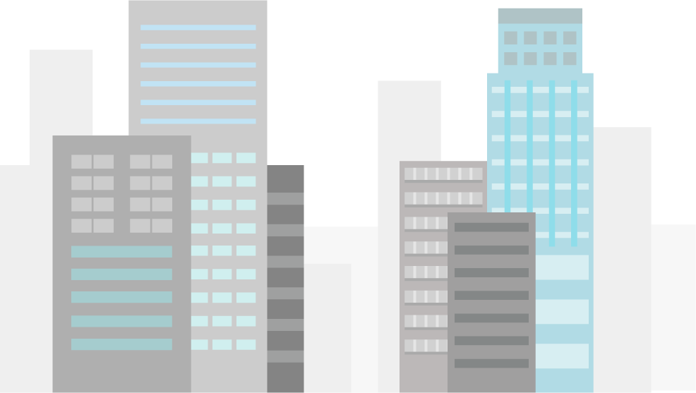 高層ビル群のイラスト