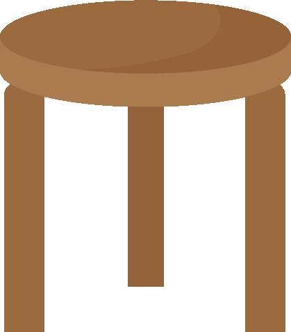茶色のスツールのイラスト