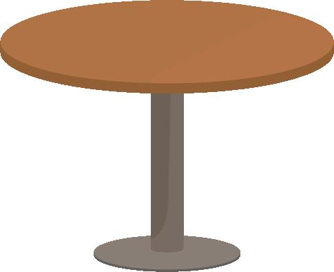 木の丸テーブルのイラスト