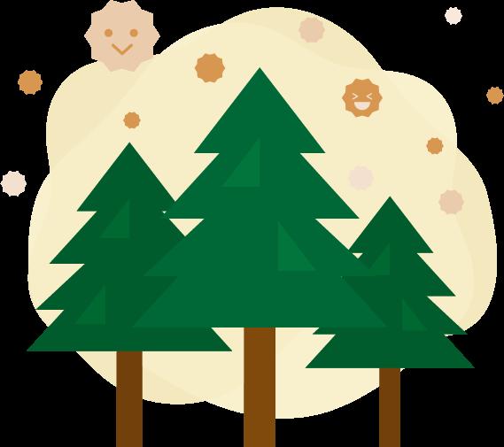 木と花粉のイラスト2