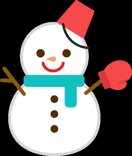 雪だるまのイラスト1