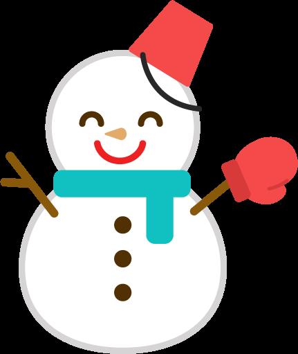 雪だるまのイラスト2