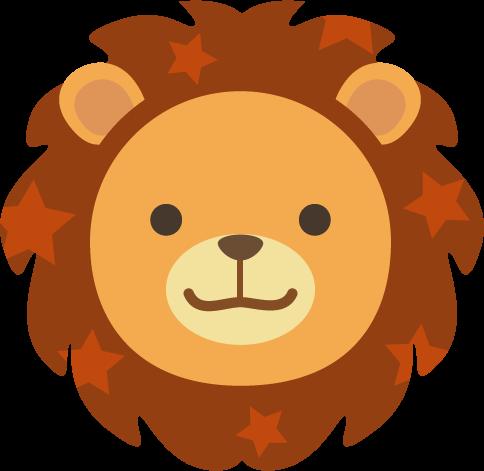 獅子座のイラスト(12星座)