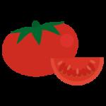 トマトのイラスト(ホール・カット)