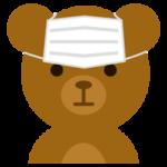 マスクができないクマのイラスト